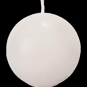Bougie ronde blanc nougat D8cm-BEJAIA