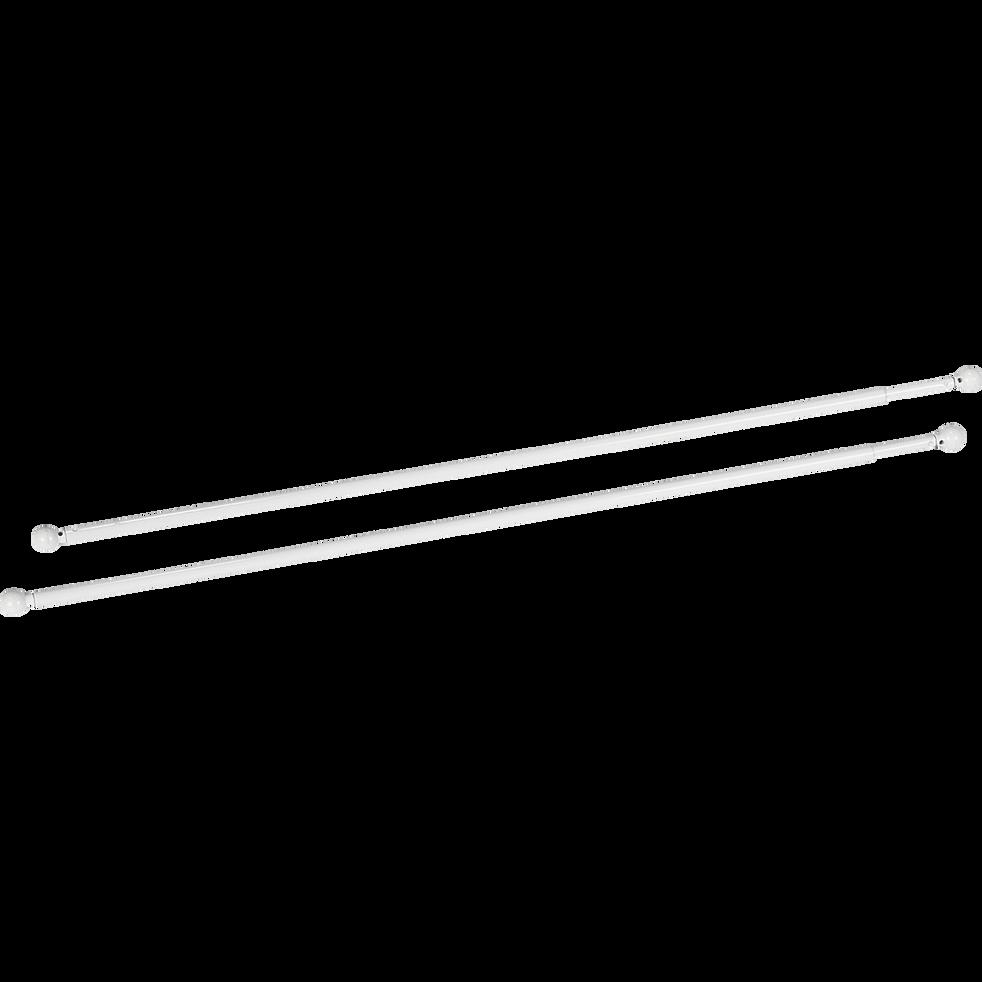 Tringle extensible pour vitrage coloris blanc 40 à 60cm-Simply