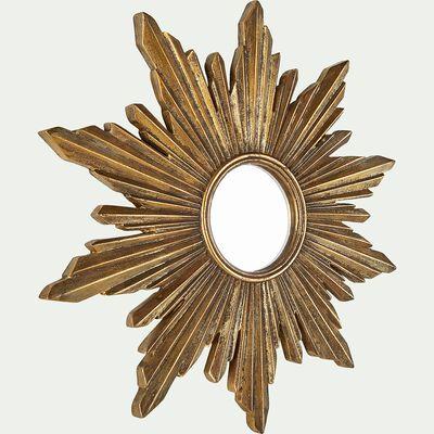 Miroir soleil en résine - doré D30cm-ADEODAT