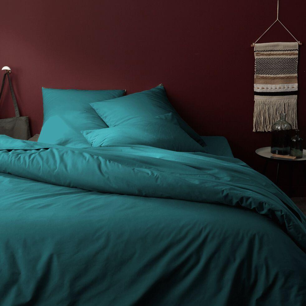Housse de couette en coton - bleu niolon 240x220cm-CALANQUES