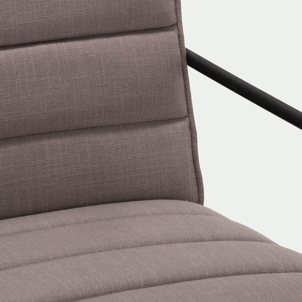 Fauteuil avec accoudoirs en tissu - gris borie-MAILHAN