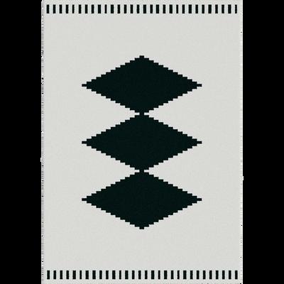 Tapis aux motifs losange noir et blanc 160x230cm-SITKA