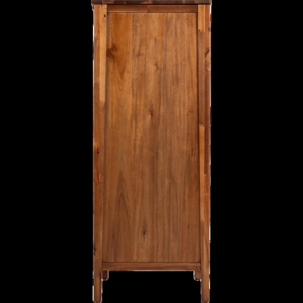Chiffonnier 4 tiroirs avec miroir repliable en acacia massif-THAO