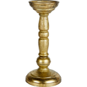 Bougeoir en fer doré H24cm-Baltic