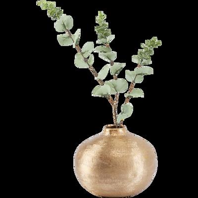 Vase en aluminium argenté D20xH18 cm-GAROUPE