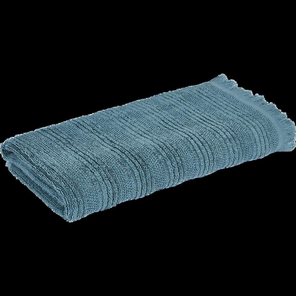 Serviette de toilette 50x100cm bleu-CALLELONGUE