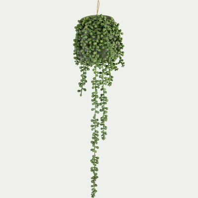 Plante artificielle tombante en pot - vert H65cm-SENECON