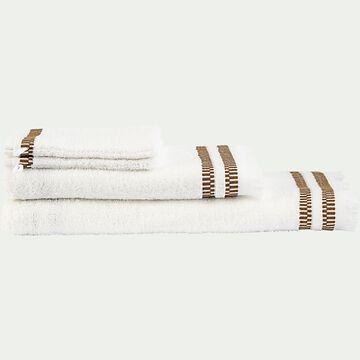 Linge de toilette en coton peigné - blanc ventoux-GARANCE