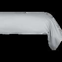 Taie de traversin en coton Gris borie 43x125cm-CALANQUES