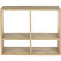 Étagère 4 cases en chêne-Tassia