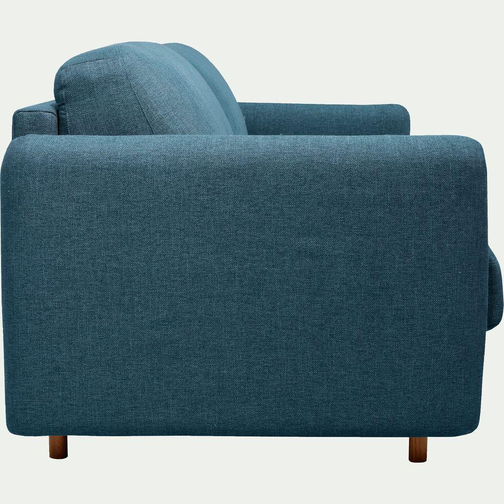 Canapé 4 places convertible en tissu bleu-MORPHEE