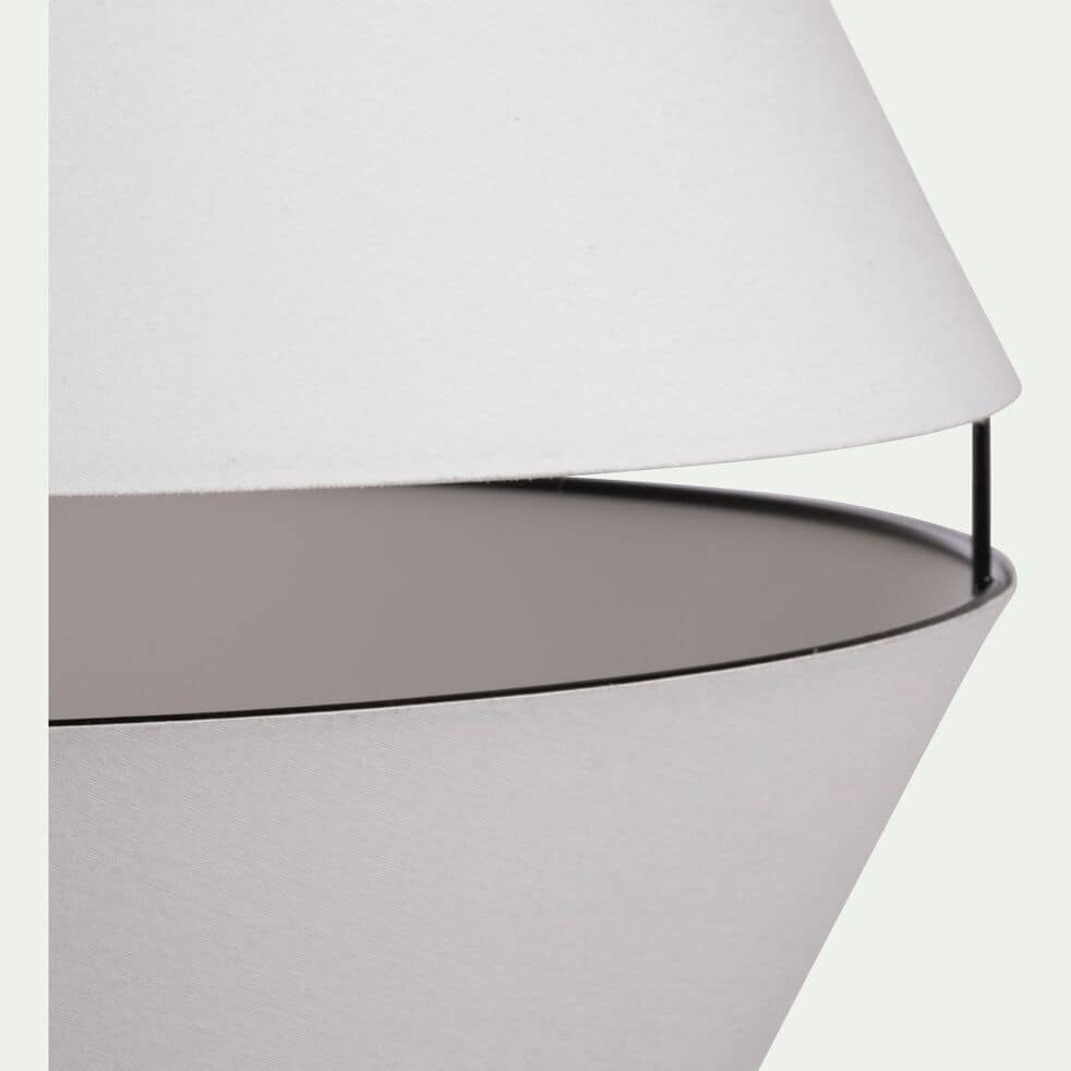 Abat-jour suspension en tissu blanc D40cm-CARA