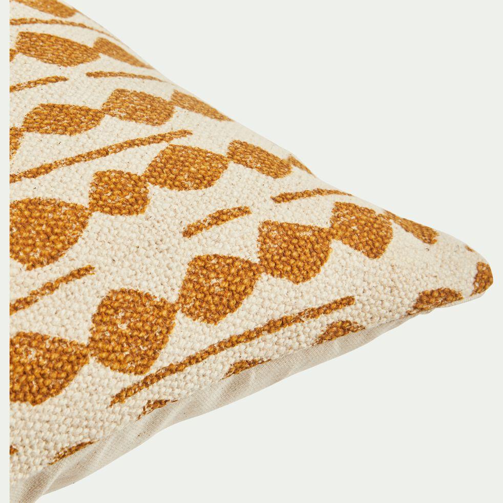 Coussin ethnique en coton - beige nèfle 45x45cm-BARRAS