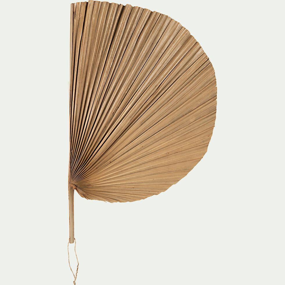 Feuille de palmier décorative en éventail - naturel 30x47cm-ALICANTE