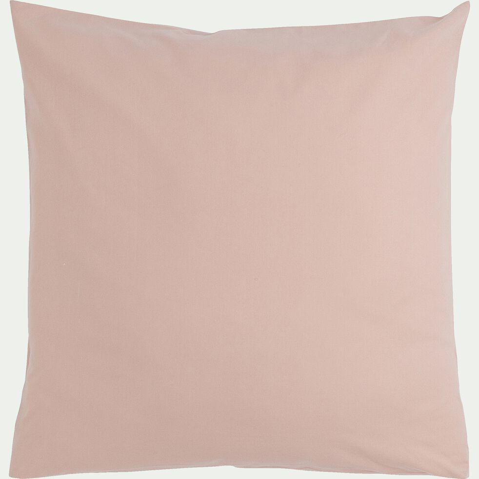 Lot de 2 taies d'oreiller en coton - rose rosa 65x65cm-CALANQUES