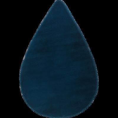 Tapis forme goutte bleu figuerolles-MORGIOU