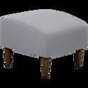 pouf en tissu gris leggy poufs et repose pieds alinea. Black Bedroom Furniture Sets. Home Design Ideas