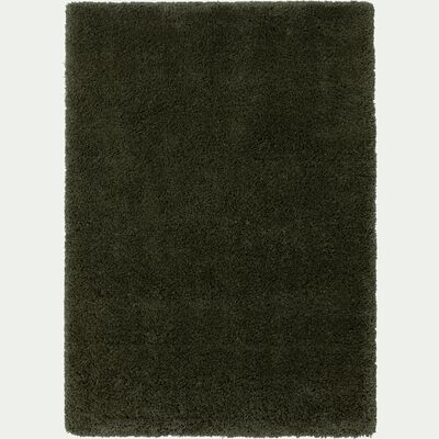 Tapis à poils longs - vert cèdre 120x170cm-KRIS
