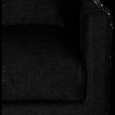 Canapé 5 places fixe en tissu gris ardoise-SOZY