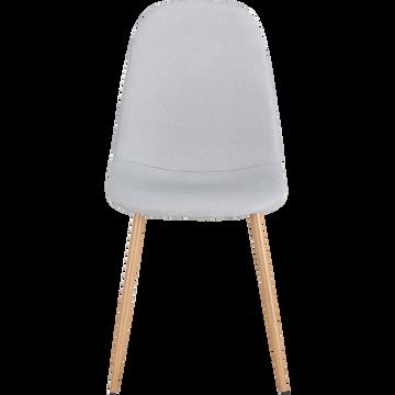 Chaise en tissu gris borie-CHARLINE