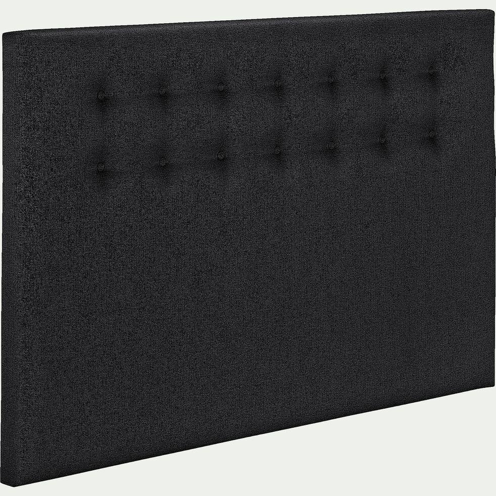 Tête de lit boutonnée 110X170cm gris anthracite-TIBOULEN