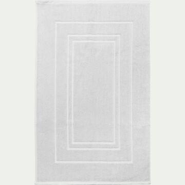 Tapis de bain en coton - blanc capelan 50x80cm-AZUR
