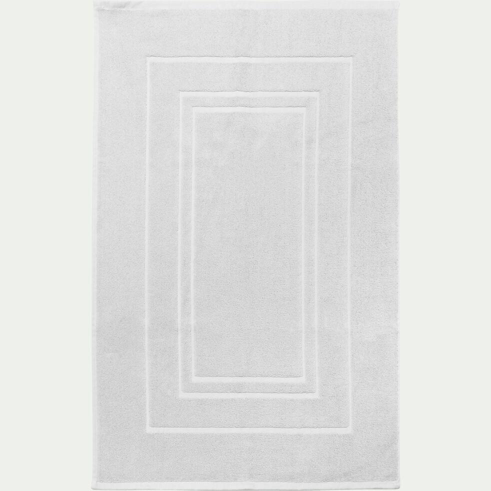Tapis de bain en coton peigné - blanc capelan 50x80cm-AZUR