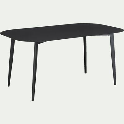 Table fixe en aluminium 8 personnes - noir L160xl100xH76-Zepplin