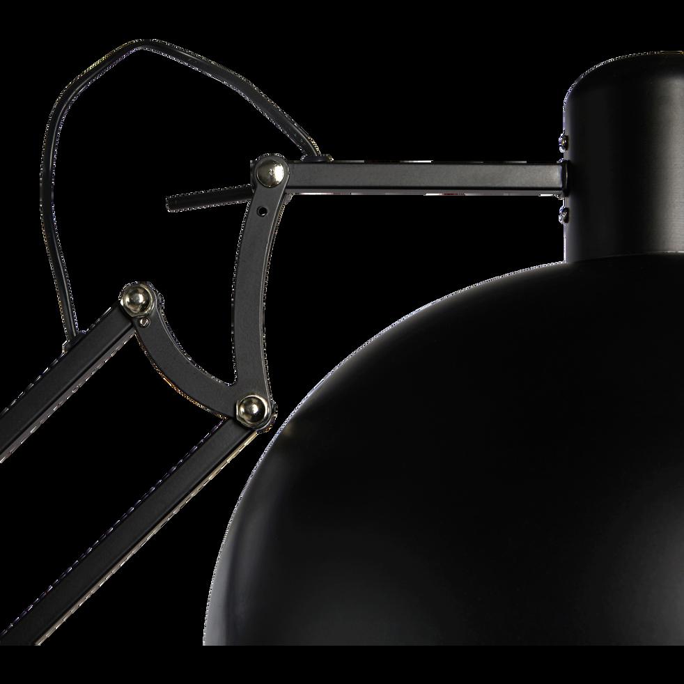 Lampadaire articulé en métal coloris noir H190cm-XXL