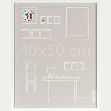 Cadre photo en bois 40x50cm - blanc-PAHA