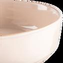 Saladier en faïence rose grège D24cm-LANKA