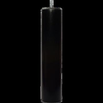 Pieds de sommier en hêtre massif Noir H30 cm - jeu de 4-Cylindre