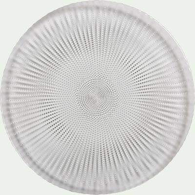 Assiette de présentation en verre transparent D33cm-VESLY