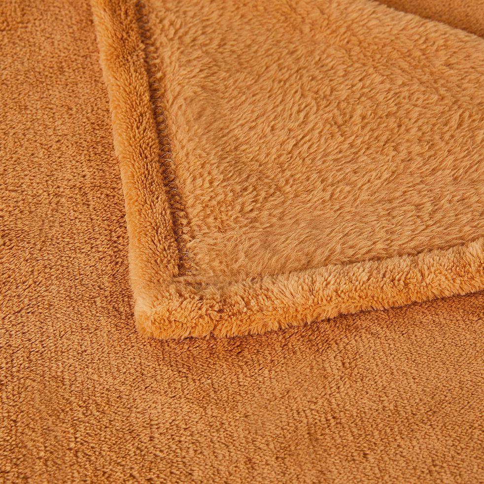Plaid effet polaire en polyester - beige nèfle 130x170cm-ROBIN