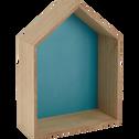 Étagère forme maison fond bleu-DOLCE