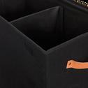 Panier à linge double noir H50cm-ERRO