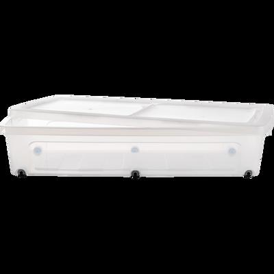 Boîte avec couvercle et roulettes en plastique 35L-MODULAR