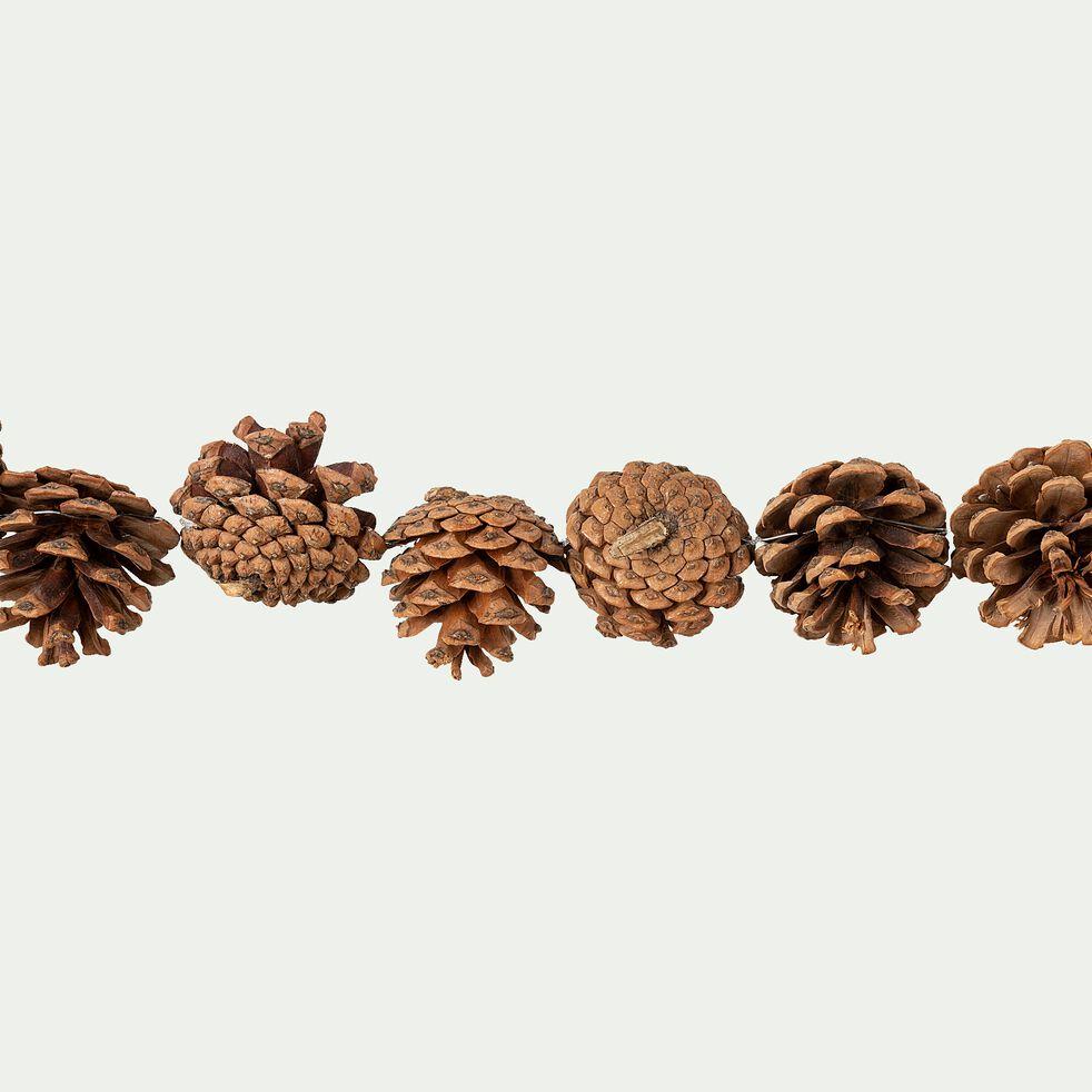 Guirlande pommes de pin - D4x120cm naturel-VALERIU
