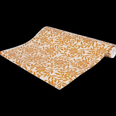 Papier peint intissé motif jasmin beige nèfle 53cm x 10m-JASMIN