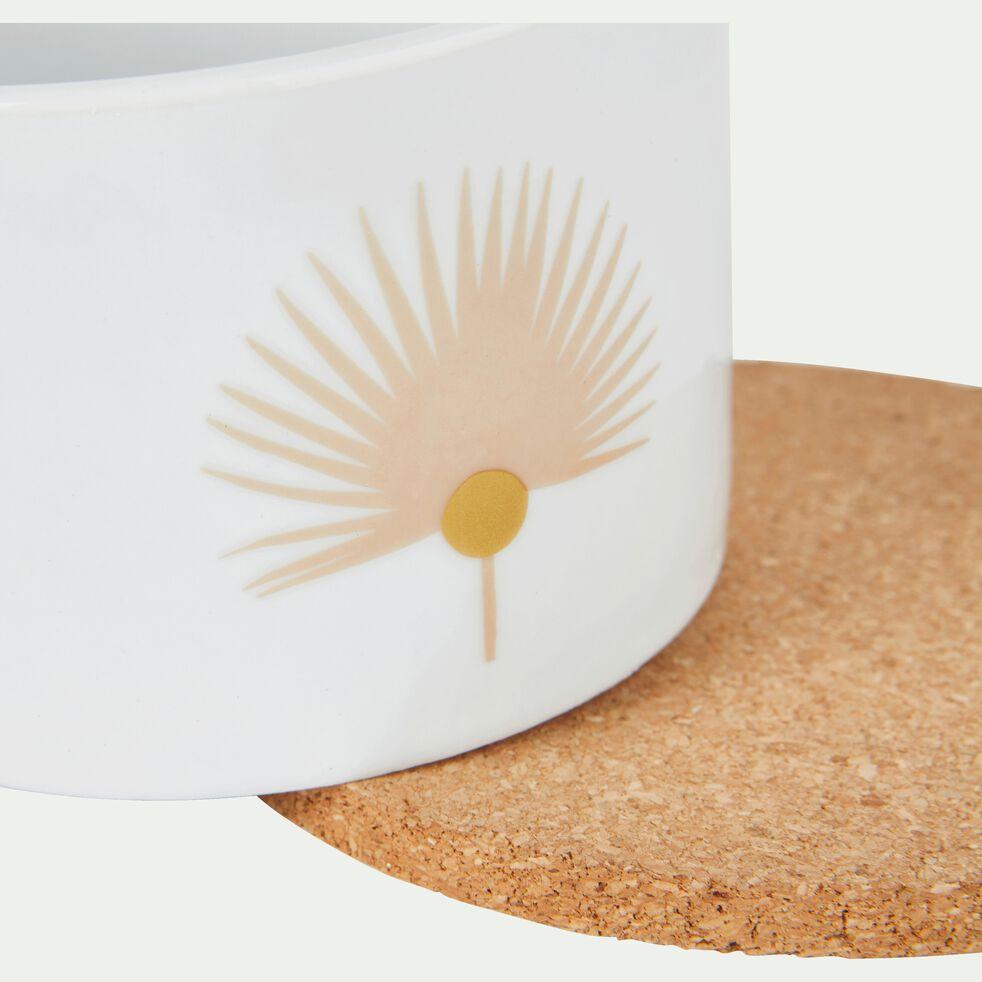 Coffret de 2 coupelles en porcelaine décorée D10cm-MIDES