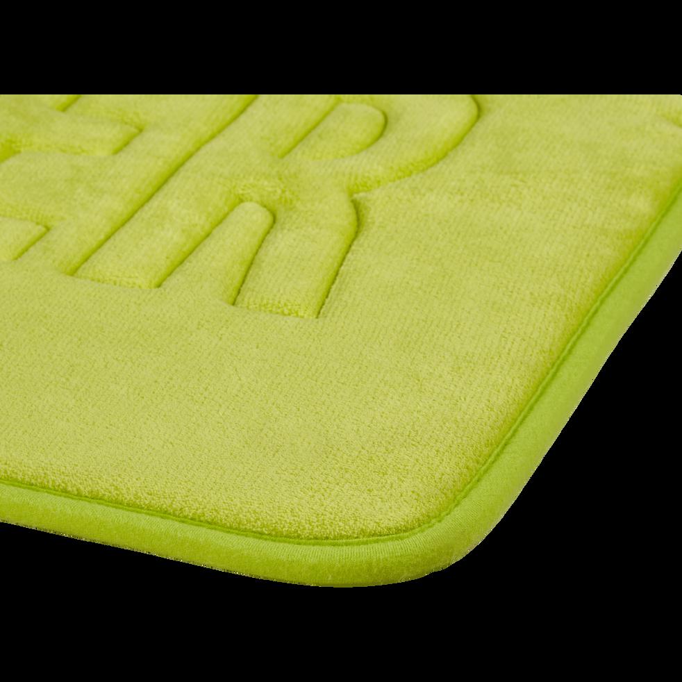 Tapis de bain 50x80cm à mémoire de forme vert-WATER