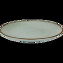 Assiette plate en grès bleu clair D28cm-BLACK STONE