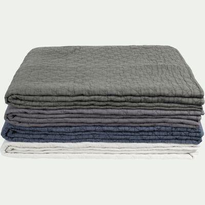 Couvre-lit en polyester effet lavé - bleu figuerolles 180x230cm-THYM