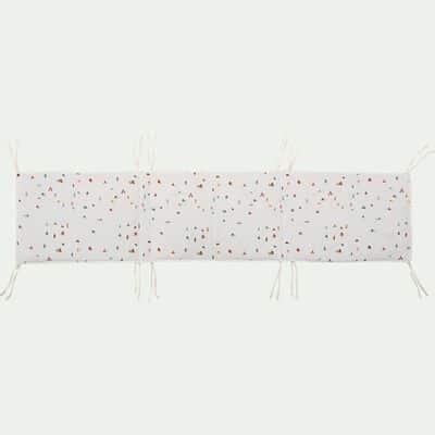 Tour de lit bébé en coton bio avec imprimé - multicolore-Cabane