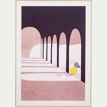 Image encadrée aqueduc 50x70cm - rose-POUNTA