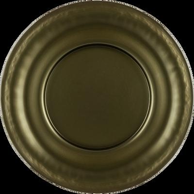 Assiette de présentation en verre vert D32cm-LISA