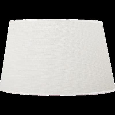 Abat-jour en lin blanc D45cm-Mokuzai