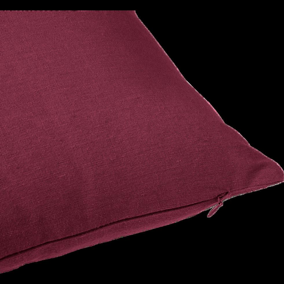 Coussin en coton rouge sumac 40x40cm-CALANQUES