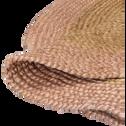 Tapis rond en jute 120 cm rose grège-ANTALYA