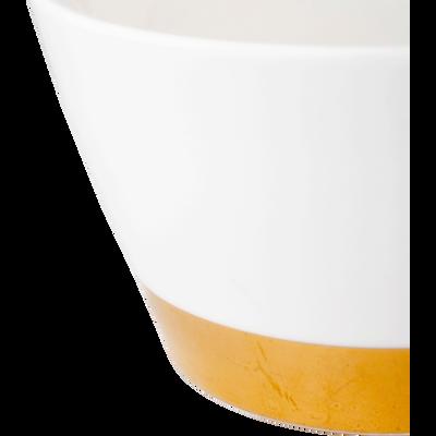 Coupelle en porcelaine blanc capelan D11cm-GLYCINE